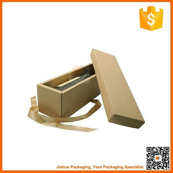 plain cardboard small gift wine bottle carton box for packaging