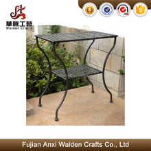 Wrought iron 2 tier garden plant stand