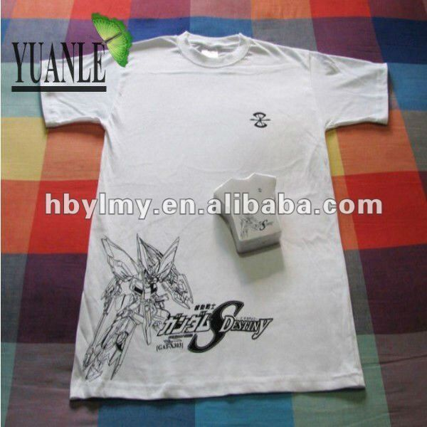 Hot Sales White Color Custom Tee shirts Compressed