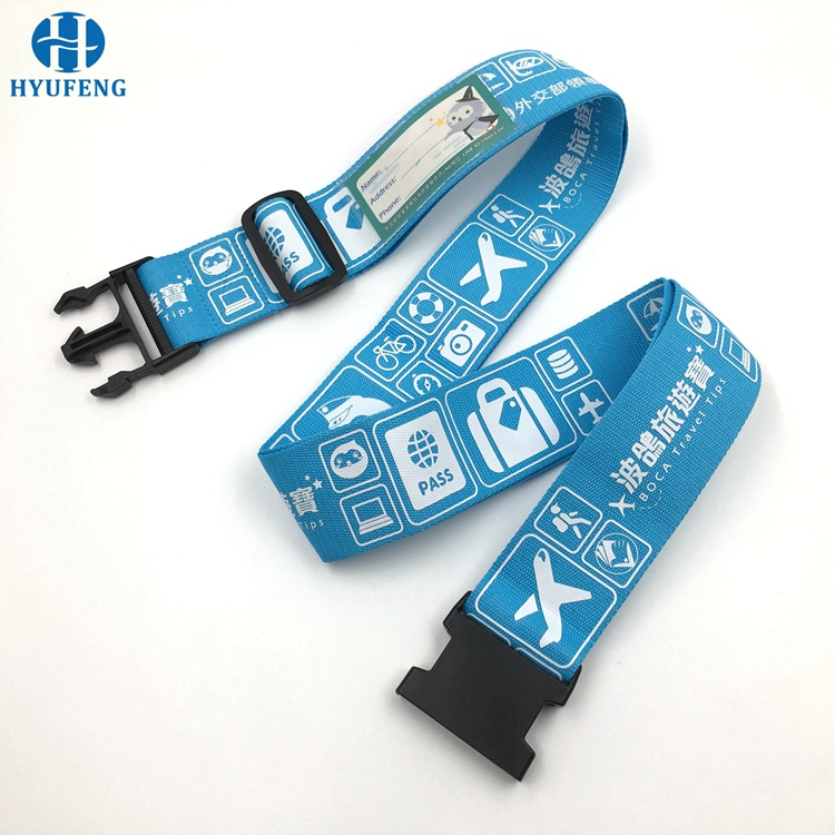 High Quality Nylon Luggage Strap with TSA Lock Luggage Belt