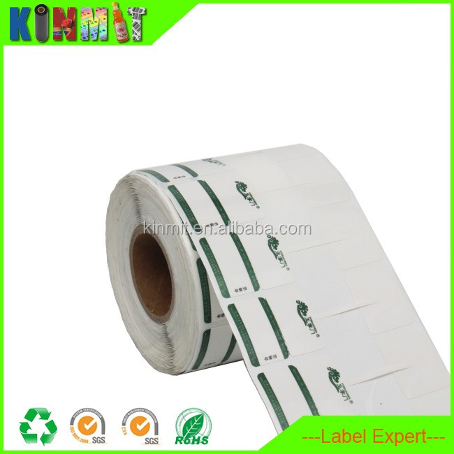 Buyer's Logo Pre-printed Super Strong Adhesive Sticker On Roll