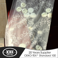 factory price high quality hotel curtain lace fabric