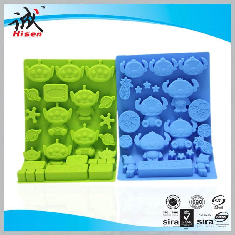 Hot selling Sedex audit factory heart shaped cake silicone molds