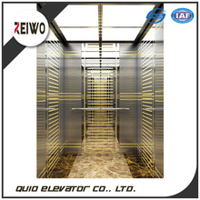 Durable machine roomless passenger elevator lift with handrail
