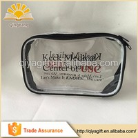Cheap recycled custom printing transparent color waterproof ziplock pvc cosmetic bag