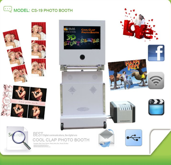 Touch Screen Green Screen Foldable Photo Booth For Fun Photos