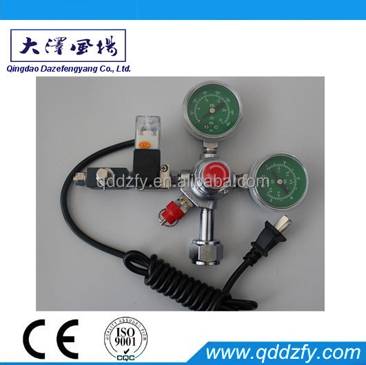 Aquarium electric heating CO2 gas pressure regulator