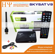 Powervu autoroll Receiver SKYSAT V9 Supporting CCCam Newcamd by USB Wifi 3G Dongle DDR 1GB SKYSAT V9