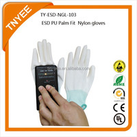 Anti static ESD PU Palm Fit Nylon gloves