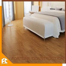 Anti slip vinyl floor with bevel edge that looks like wood floor