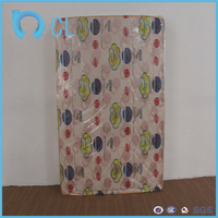 soft plastic pvc printed printing PVC mattress protective film of cot bed with mattress