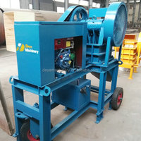 mini small diesel engine jaw stone crusher