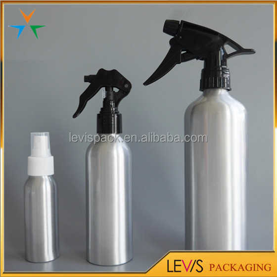 Large capacity 500ml sliver color aluminum cosmetic trigger spray bottle