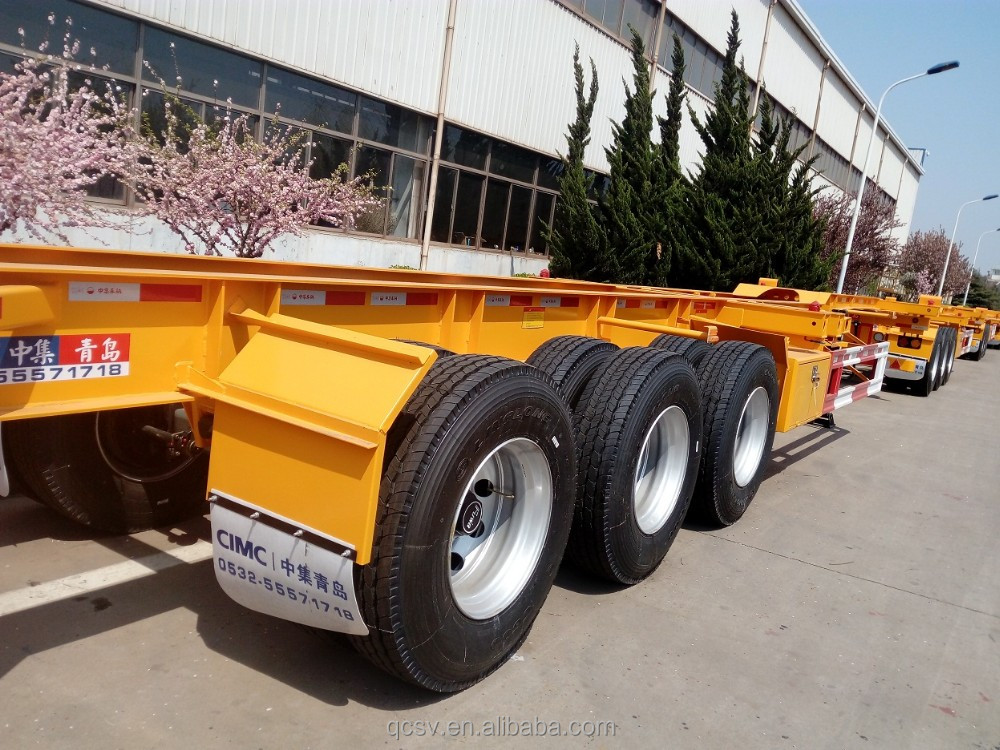 2 <strong>axles</strong>, 3 <strong>axles</strong> 40 feet container Terminal Trailer Chassis