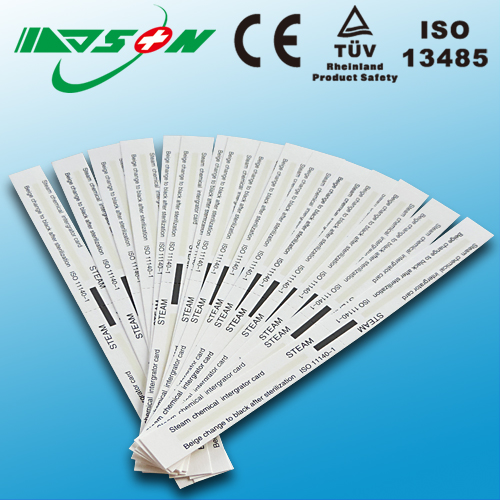 Medical disposable steam sterilization indicator card