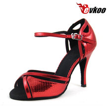 Big red genuine leather tap dance shoes for women tap dance shoes genuine