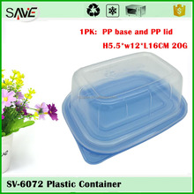 China supprier wholesale 500ML big rectangle plastic lunch box food container with lid