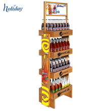 China Manufacture 3 Tiers Promotional Firm Wood Display Stands