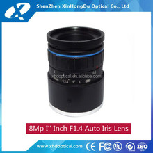 High quality 8Mp 1''inch format 35mm F1.4 Manual Focus Dc Iris C Mount lens