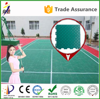 Non-toxic non-damage badminton court floor mat / outdoor badminton court flooring