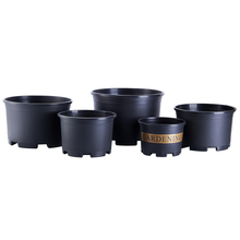 Customized 1,1.5,2,3,5,7 Gallon plastic pots black plastic nursery flower pots