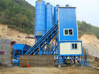 Mini Mobile Ready Concrete Batching Plant Simple Type Mixing Plant HZS25T
