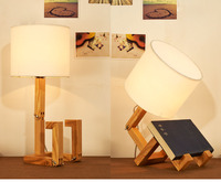 Hot sale bedroom human figure led wooden table lamp
