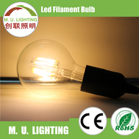 Indoor decorative lighting G95 long filament and short filament led filament bulb lamp in high quality