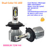 Ever Best 8000lm 72W Dual Color LED Headlight 2017 led h4 pk P8 h7 Osram led bulb led h15 plug and play h11 d1s t6 d2s xenon 60W