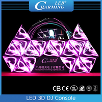 LED 3D sound control fashion show stage DJ cube booth display,3d dj equipment