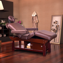 New Modern Adjustable Full Body Thai Salon Massage Table Best Selling Solid Wooden Beauty Massage Bed