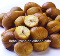Chinese organic roasted chestnuts, snack foods