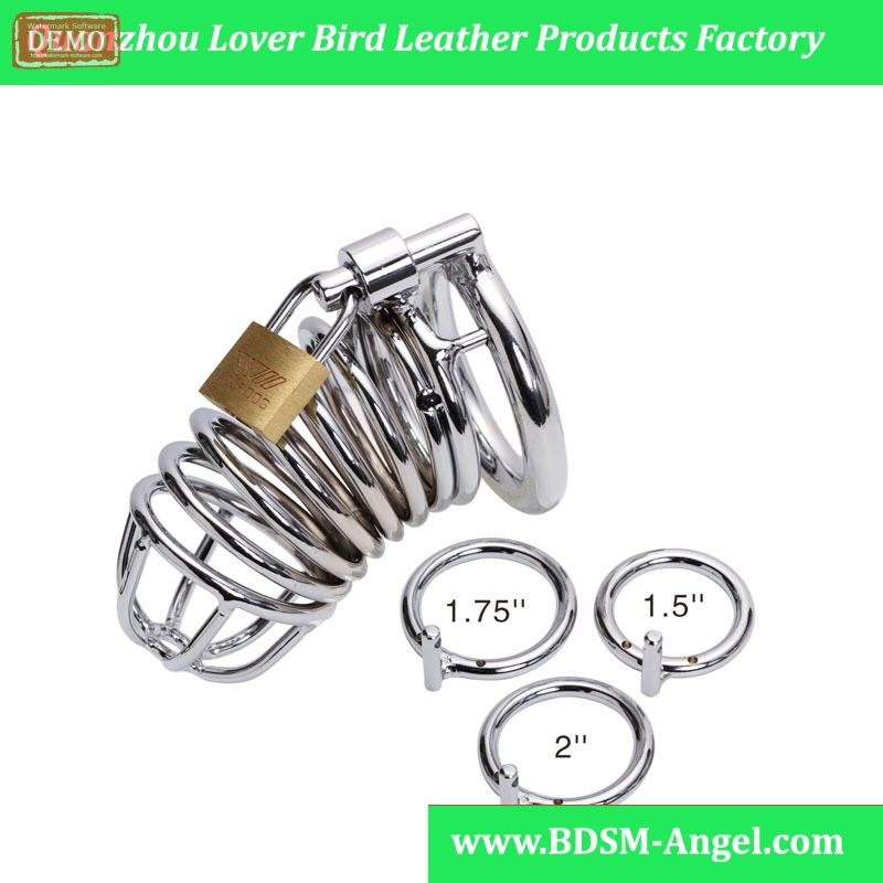 Hot Standard Size Clear Male Chastity Device Penis Lock Cage With Brass Lock Sex Products Adult Sex Toys Male Chastity Device