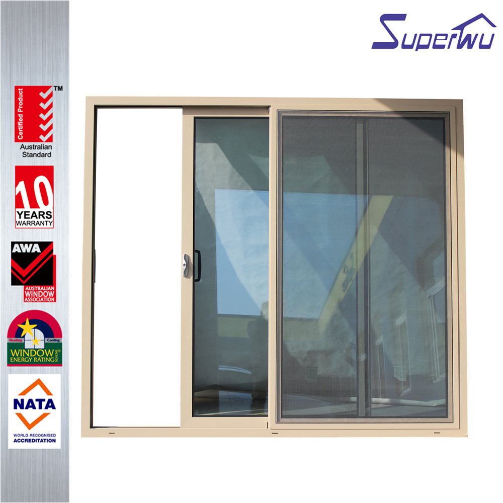Commercial system fireproofing aluminum profile double glass with argon gas sliding door for container homes