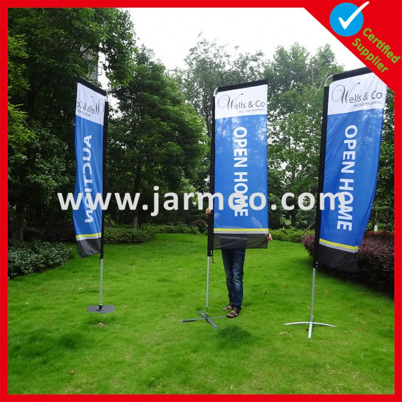 New Attractive Custom Logo X Cross base with water bag beach flags with poles