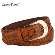 Men Fashion Strap Personality Pattern Genuine Leather Belt Manufacturer Wholesale Elastic Newest Design Male Luxury Casual Belt