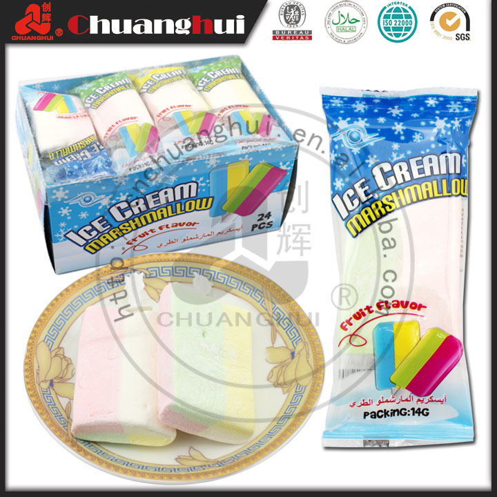 18g Ice Cream Gummy Lollipop Fruity Soft Candy