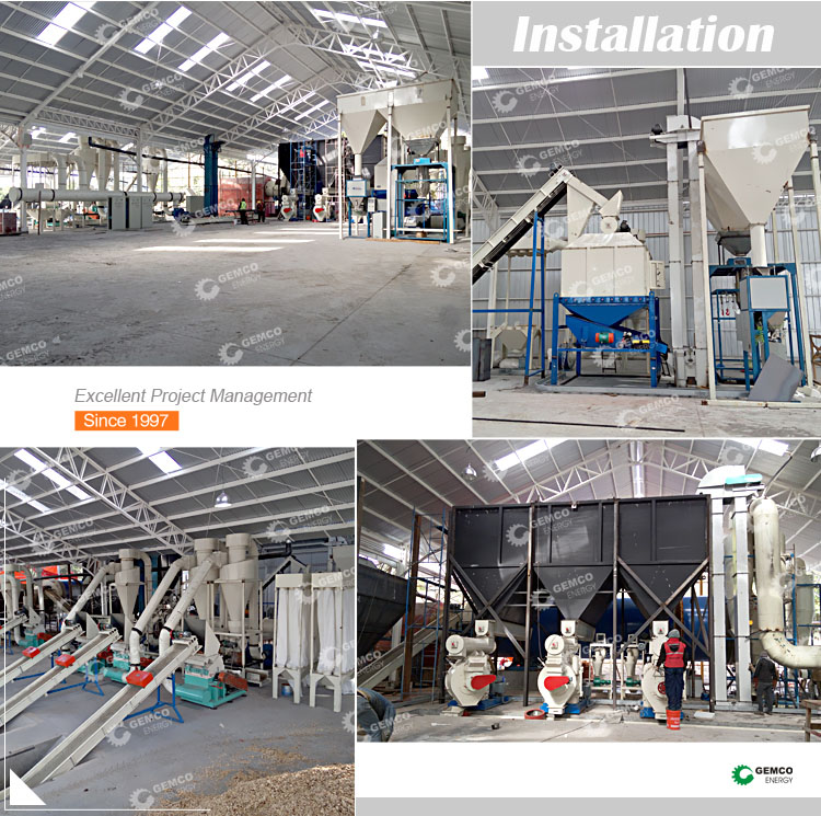 3 ton per hour large turn key biomass straw pellet processing plant constructing complete wood pellet line