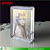 Unique round angle acrylic magnetic photo frame perspex picture stand decorative