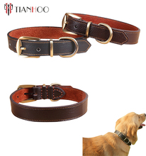 Wholesale high quality leather dog collar custom dog bark collar
