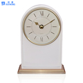 2017 Wholesale marcaron color wooden stand mantel clock