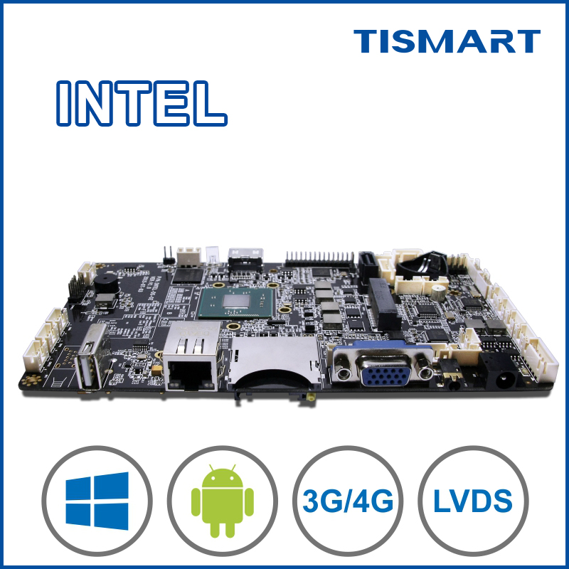 High quality android pcba arm board intel processor with double systems for POS OPS commercial device