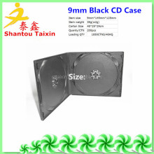 black double 10mm cheap cd/dvd case