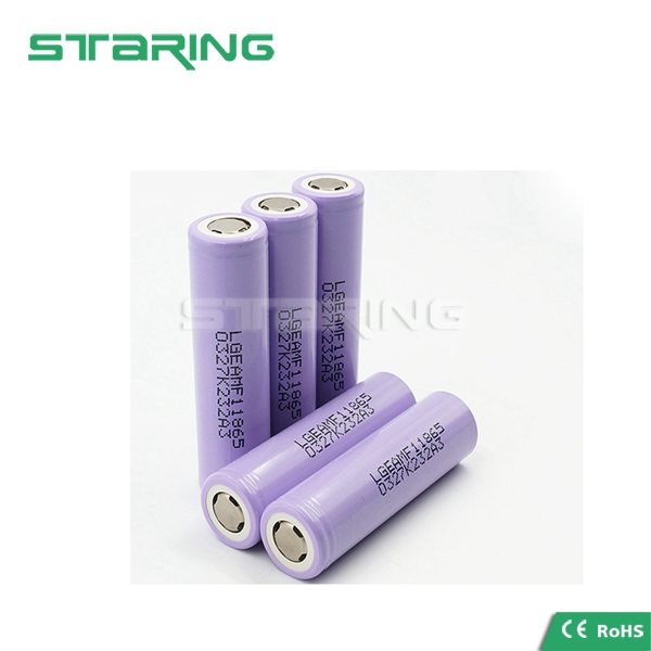 In stock LG MF1 2200mah 10A 18650 flat top 18650MF1 rechargeable li-ion 18650 battery