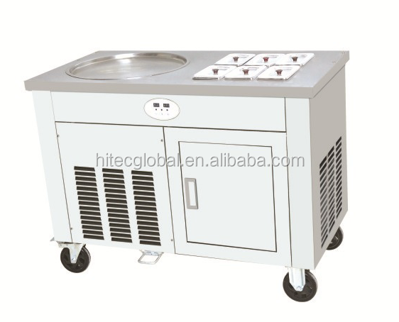 Single Pot With Six Cooling Holes HTC-1D6A Fried Roll Ice Cream Machine
