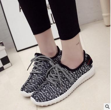 2016 latest design fashion casual round toe design wholesale woman sport shoes