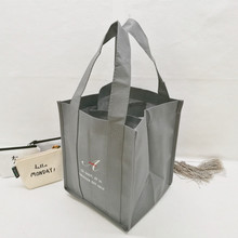 Gray vigin non woven fabric 4 bottle small wine nonwoven bag