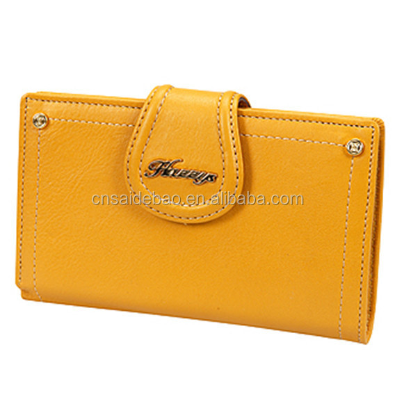 pu leather woman hand wallet