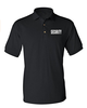 Security Silkscreen Front & Back Black Sport Polo with your design