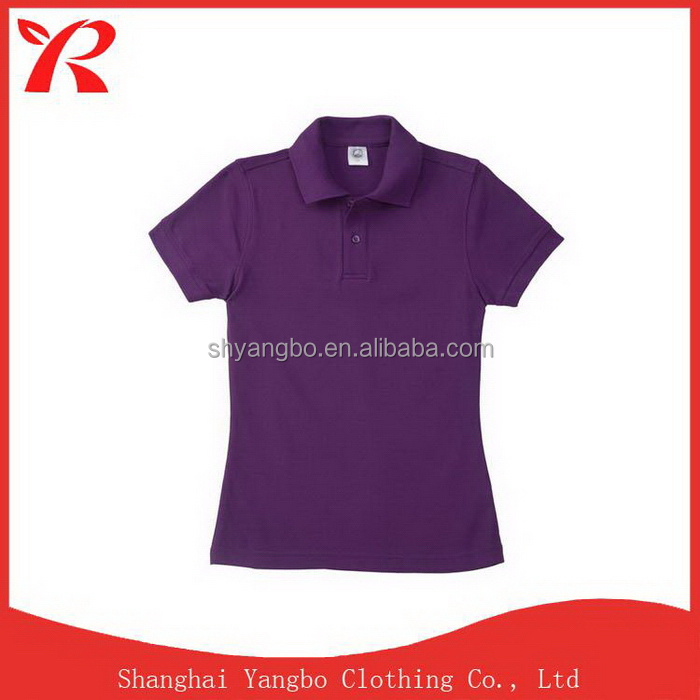 China factory price newest hotsell latest design polo t shirt for women